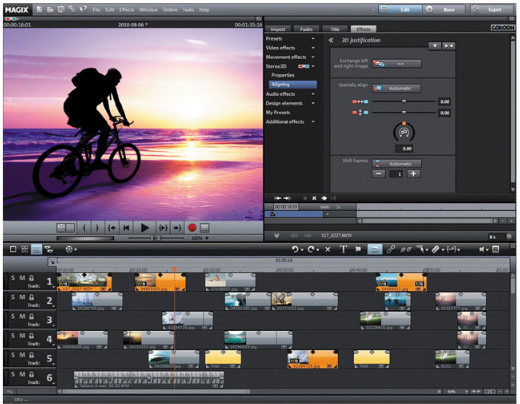 Easy video edit software free 3d